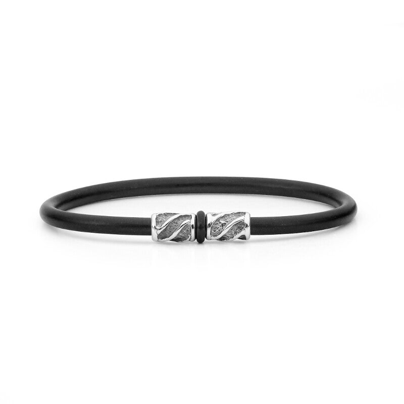 Indian Ocean Men's Silver Bangle