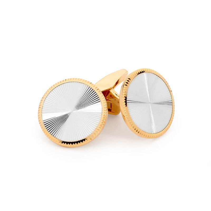 Guilloché Gold Cufflinks