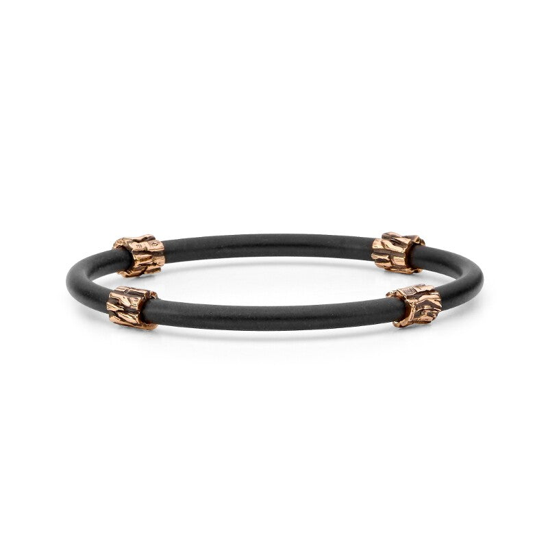 Rose Gold Neoprene Bangle