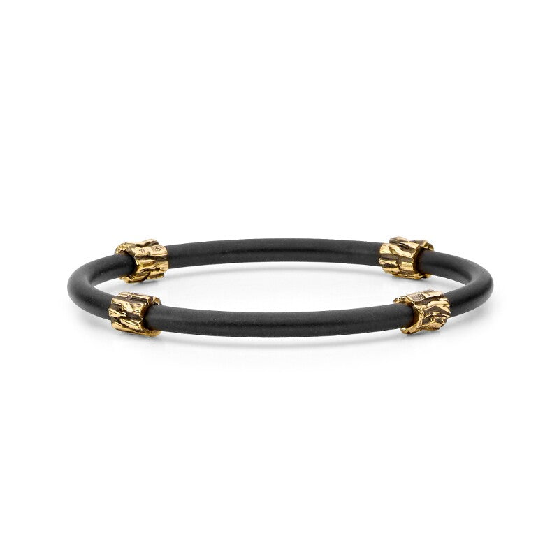 Yellow Gold Neoprene Bangle