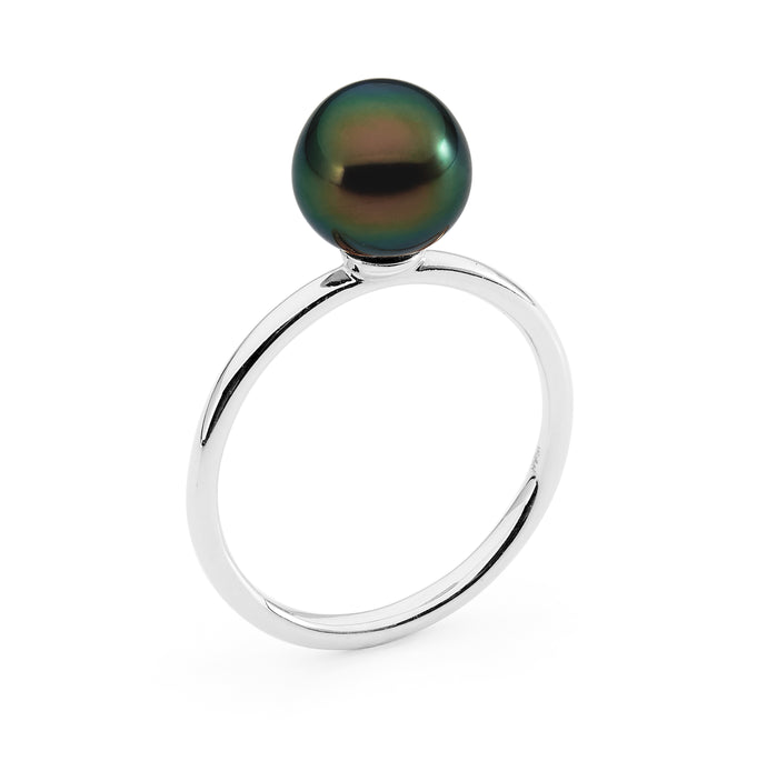 Round Band Pearl Ring