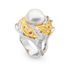 12-13mm Pearl and Diamond Ring