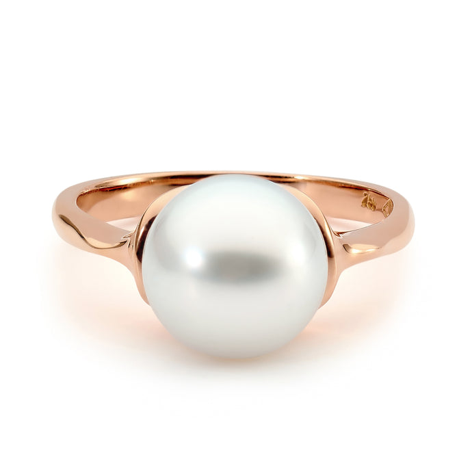 18ct Rose Gold Pearl Ring Perth