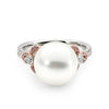 Pink and White Diamond Pearl Ring