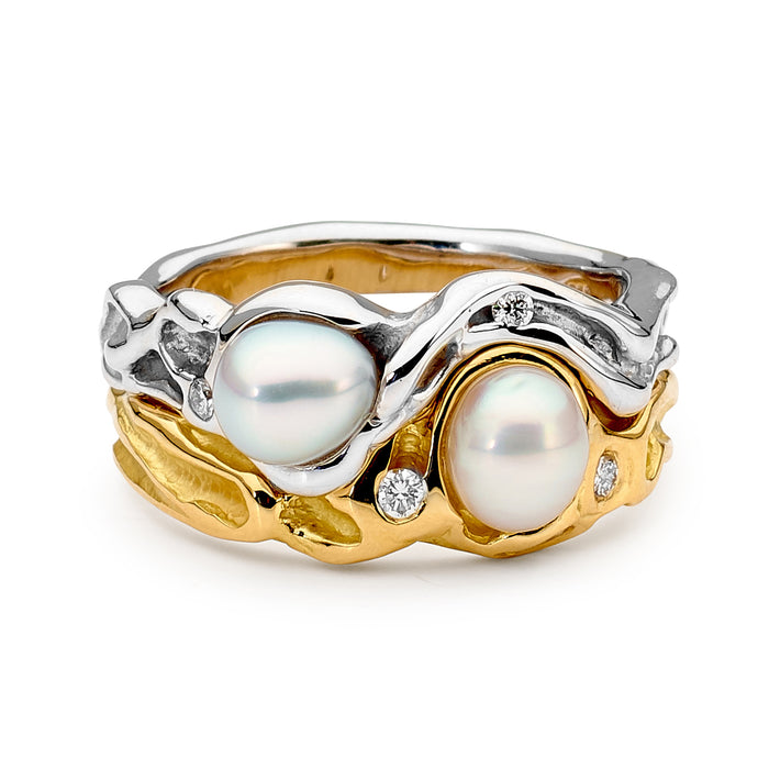 Seedless Pearl and Diamond Ring perth jewellery stores australian jewellery designers online jewellery shop perth jewellery shop jewellery shops perth perth jewellers jewellery perth jewellers in perth diamond jewellers perth bridal jewellery australia pearl jewellery australian pearls diamonds and pearls perth