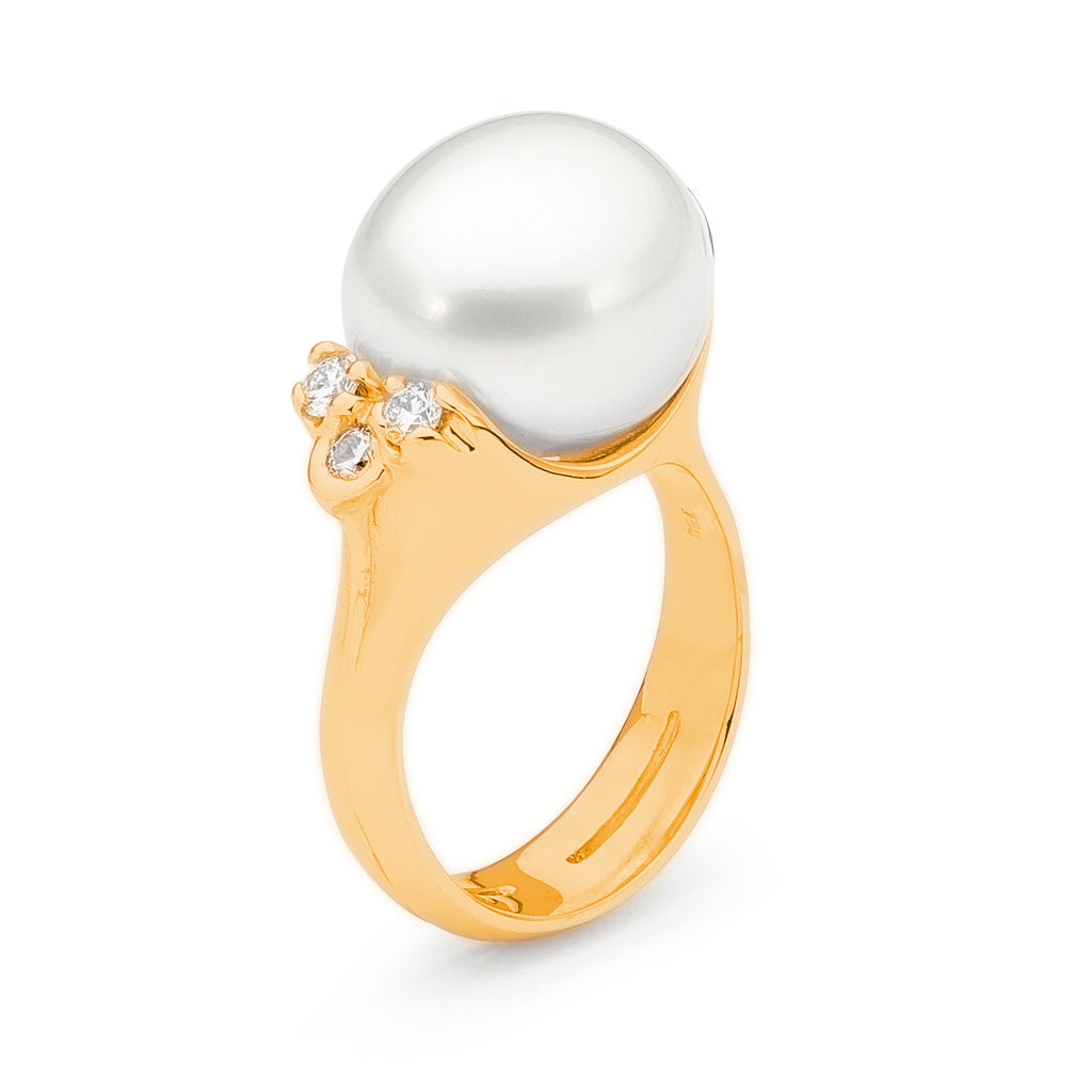 gold pearl and diamond rings perth