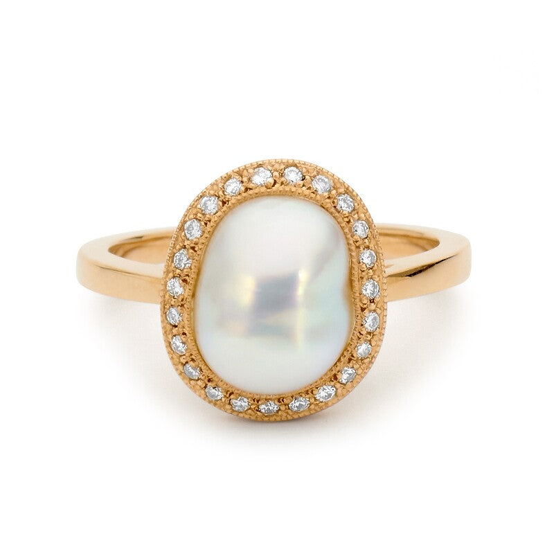 Shimmering Pearl Ring