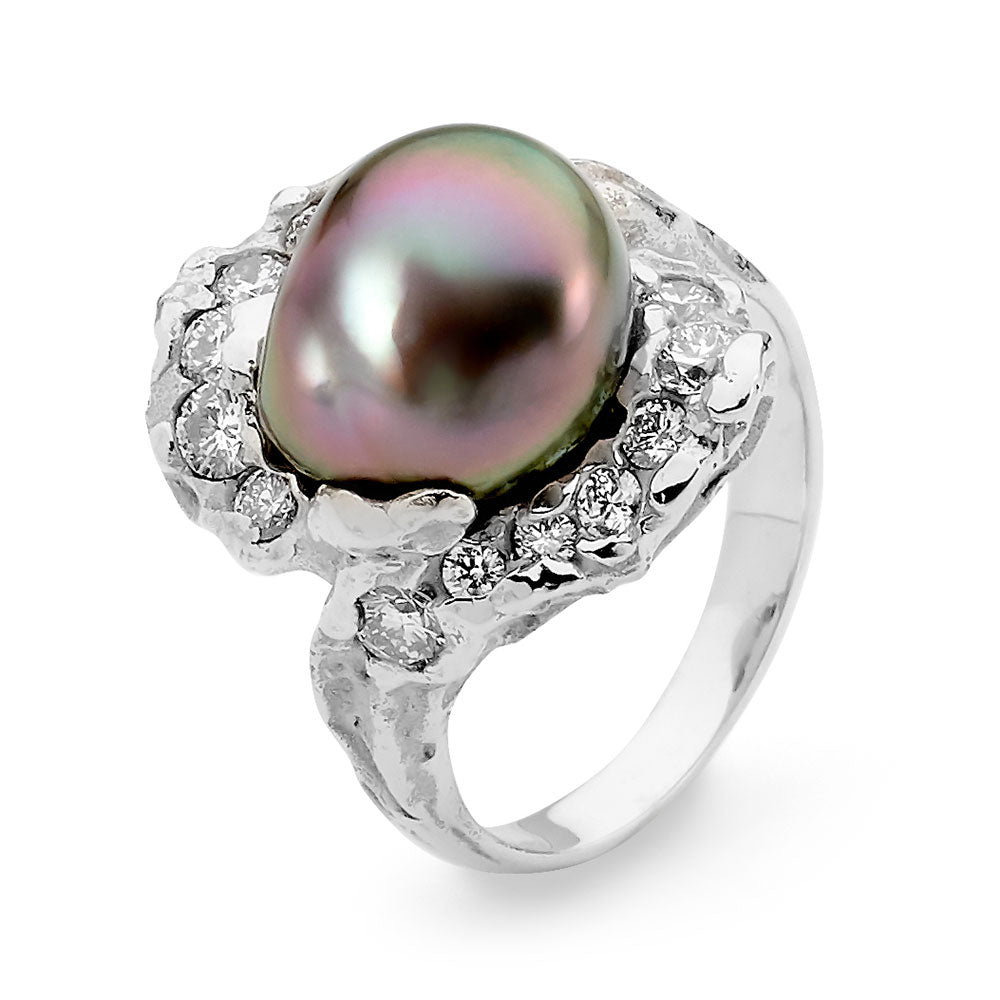 Freeform Style Tahitian Pearl Ring