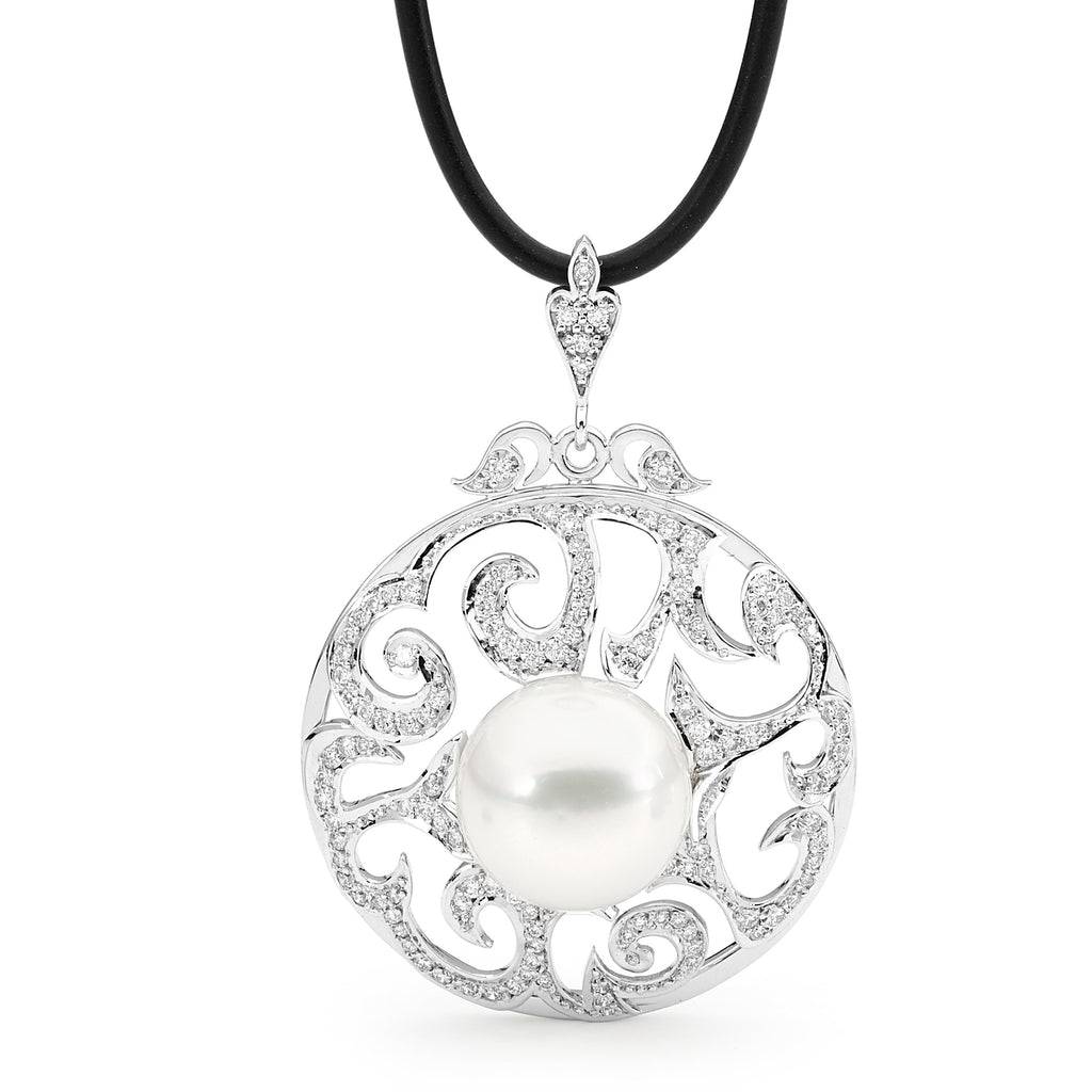 Stunning Australian South Sea Pearl & Diamond Pendant
