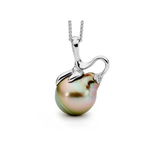 Organic Tahitian South Sea Pearl Pendant