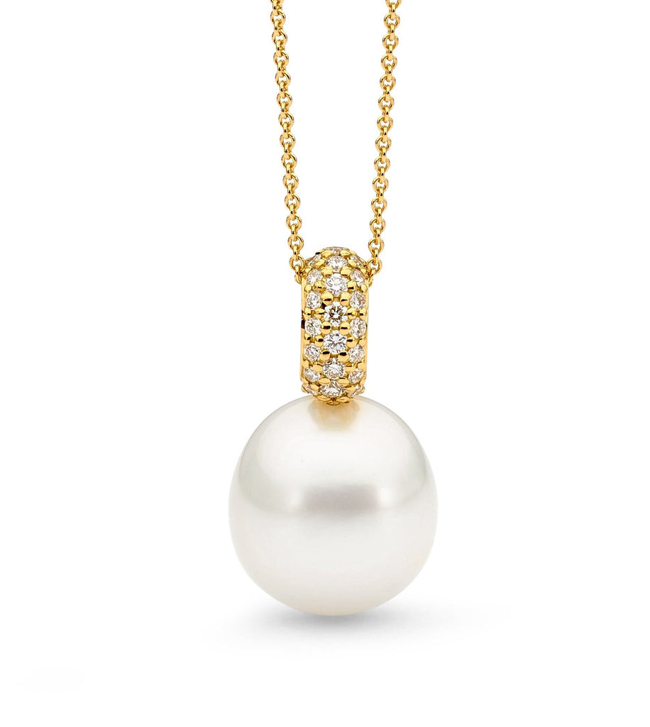 18ct Gold, Pearl and Diamond Pendant