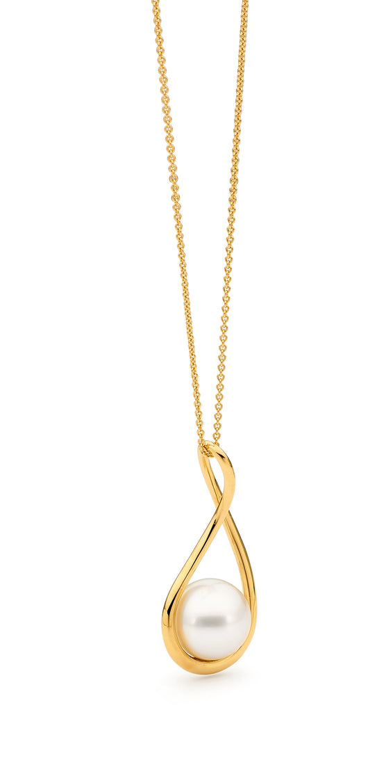 18ct Yellow Gold Free-Flow Australian Pearl Pendant