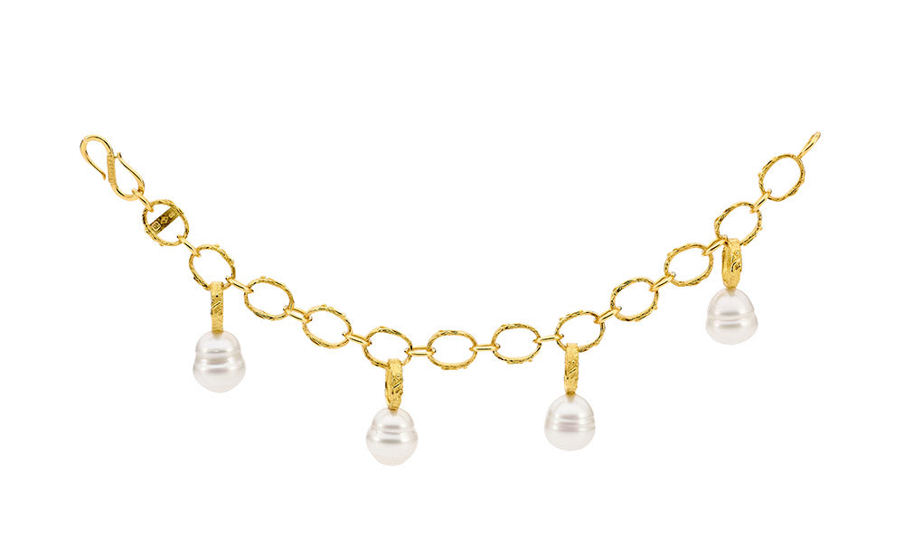Hanging Pearl Bracelet online jewellery shop buy jewellery online jewellers in perth perth jewellery stores wedding jewellery australia gold jewellery perth