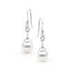 Pearl White Gold Diamond Earrings Perth