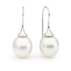 Trumpet style pearl earrings