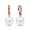 18ct White/Rose Gold Pearl and Pink Diamond Earrings