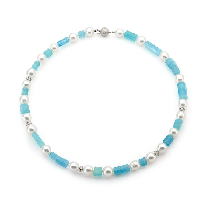 Aquamarine and Pearl Strand