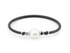 18ct White Gold Wire Wrap Pearl Bangle