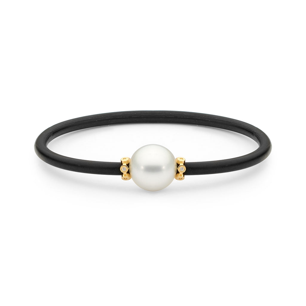 Pearl & Diamond Bangle