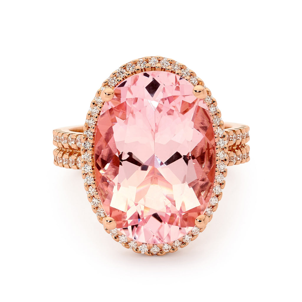 Split Band Morganite Ring