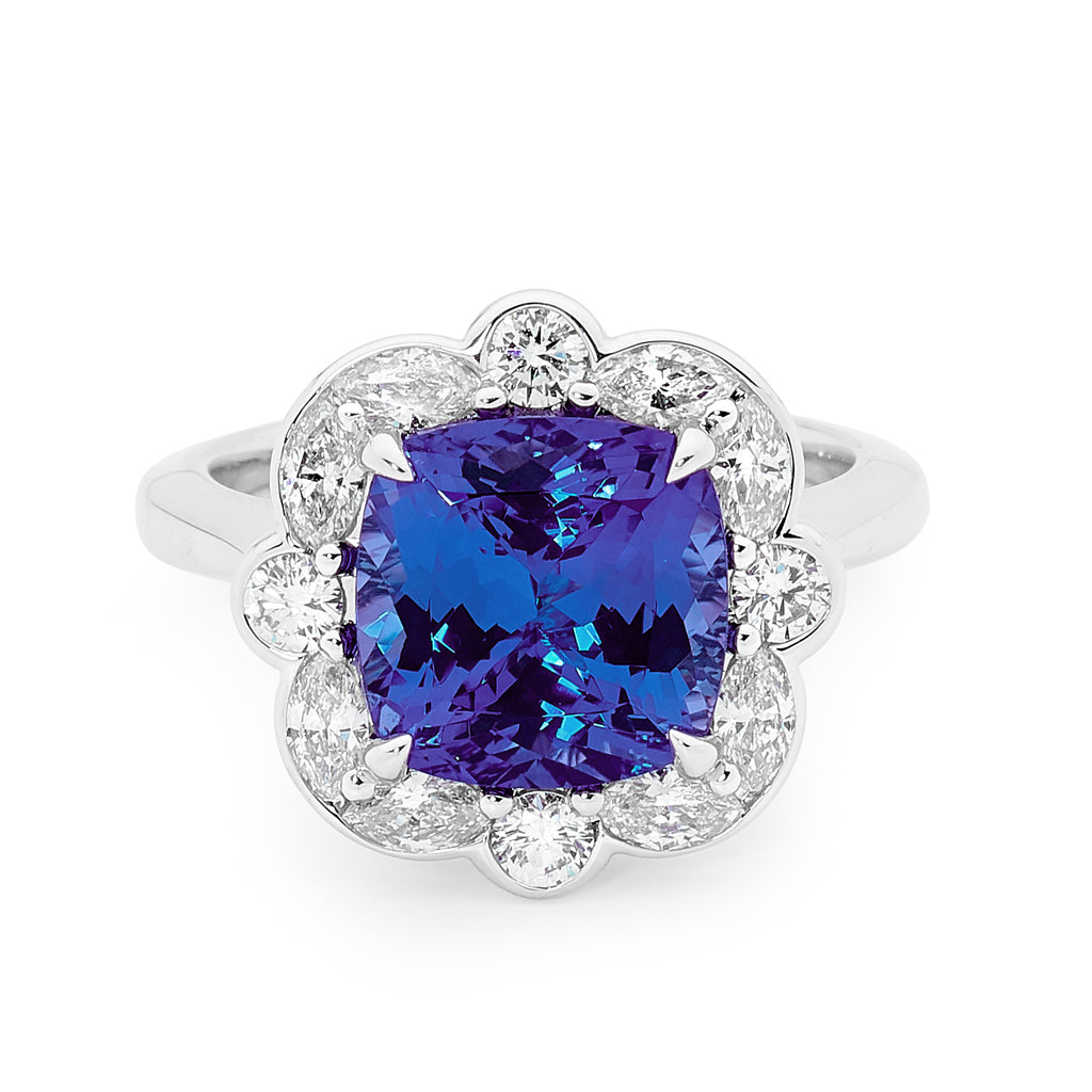 Tanzanite Diamond Ring Perth