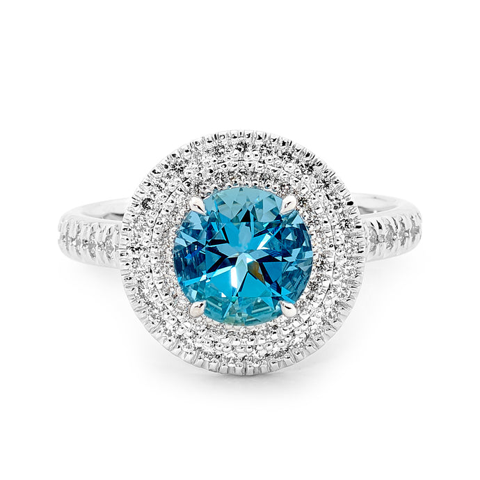 Aquamarine Diamond Ring Perth