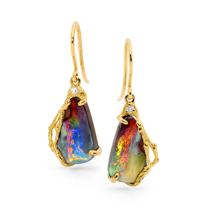 Boulder Opal Earrings jewellery stores perth perth jewellery stores australian jewellery designers online jewellery shop perth jewellery shop jewellery shops perth perth jewellers jewellery perth jewellers in perth diamond jewellers perth bridal jewellery australia