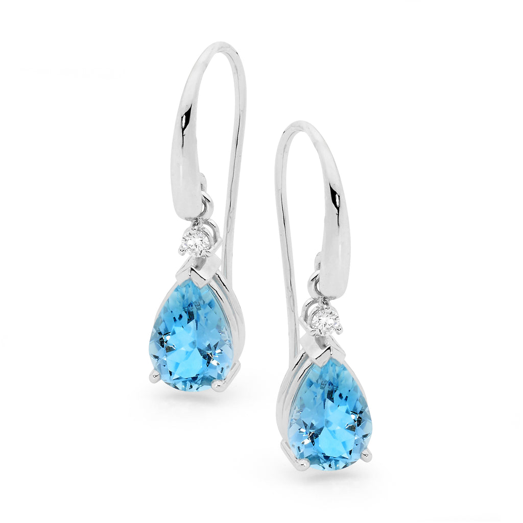Blue Dreams Aquamarine Earrings
