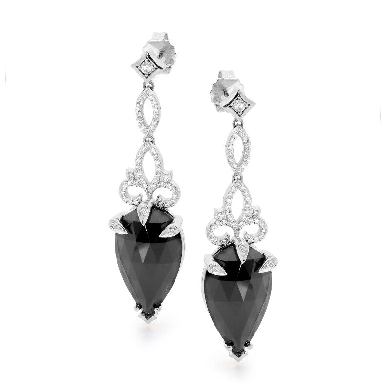 Black Lace Spinel Earrings