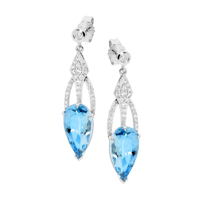 Blue Lace Aquamarine Earrings