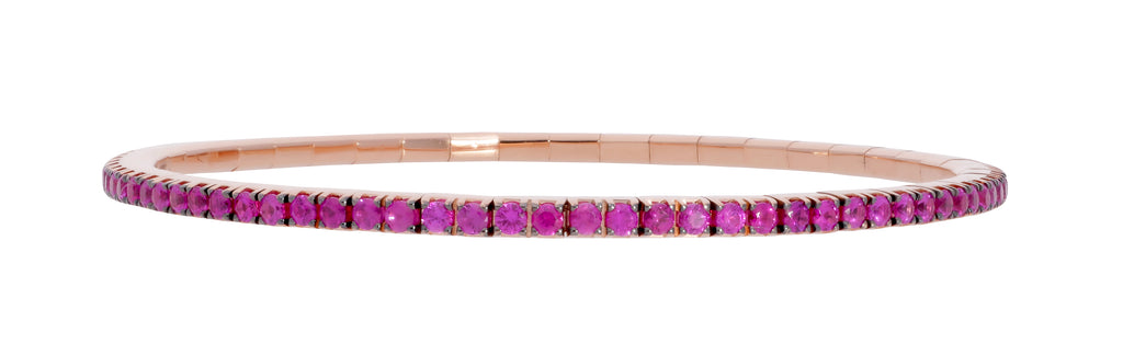 Expandable Rose Gold Ruby Bracelet