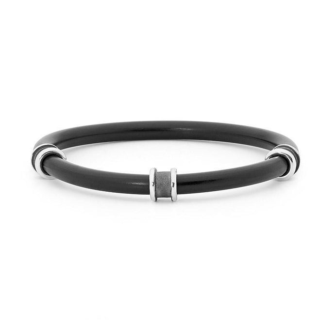 Silver Neoprene Bangle
