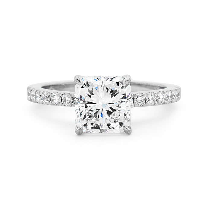 18ct White Gold Four Claw Set Diamond Ring