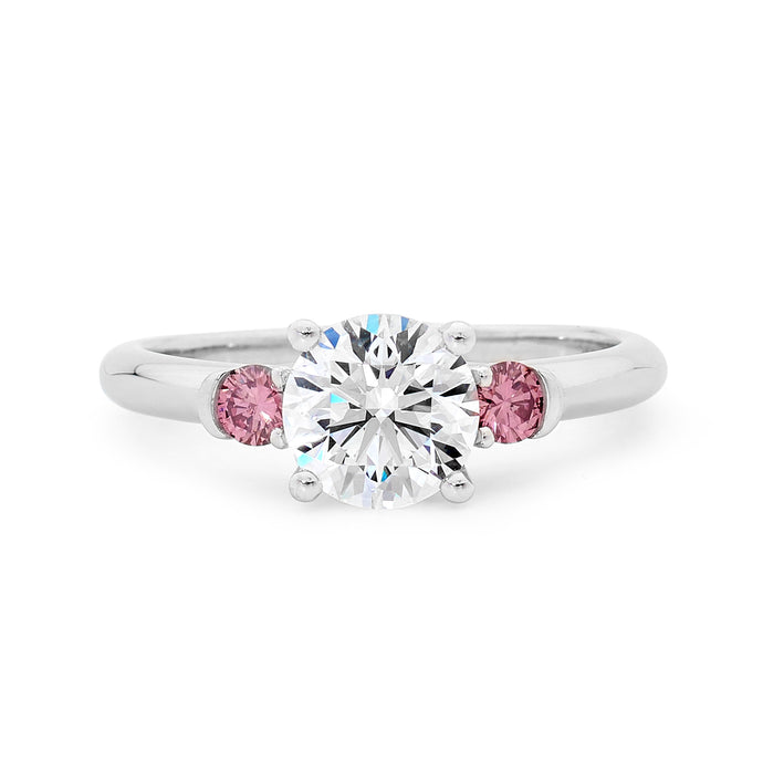Platinum White and Pink Diamond Ring Platinum White and Pink Diamond Ring