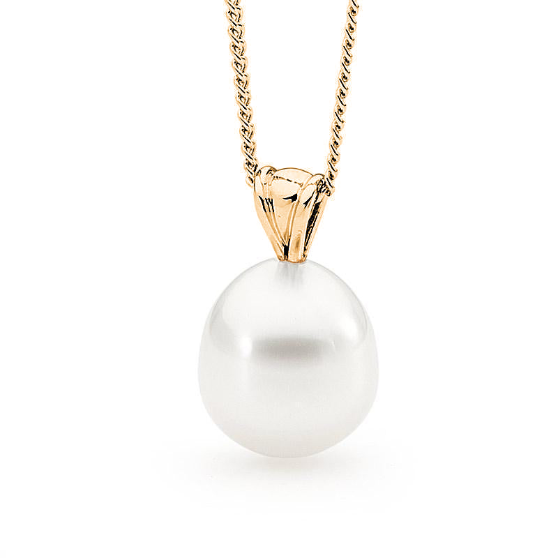 south sea pearl pendant yellow