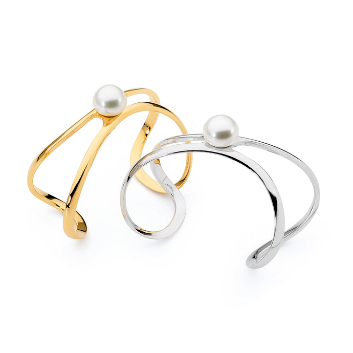 18ct Gold and Pearl Cuff