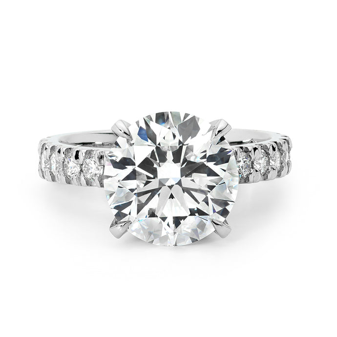 4.06ct Platinum Diamond Ring