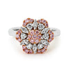 Pink and White Diamond Ring