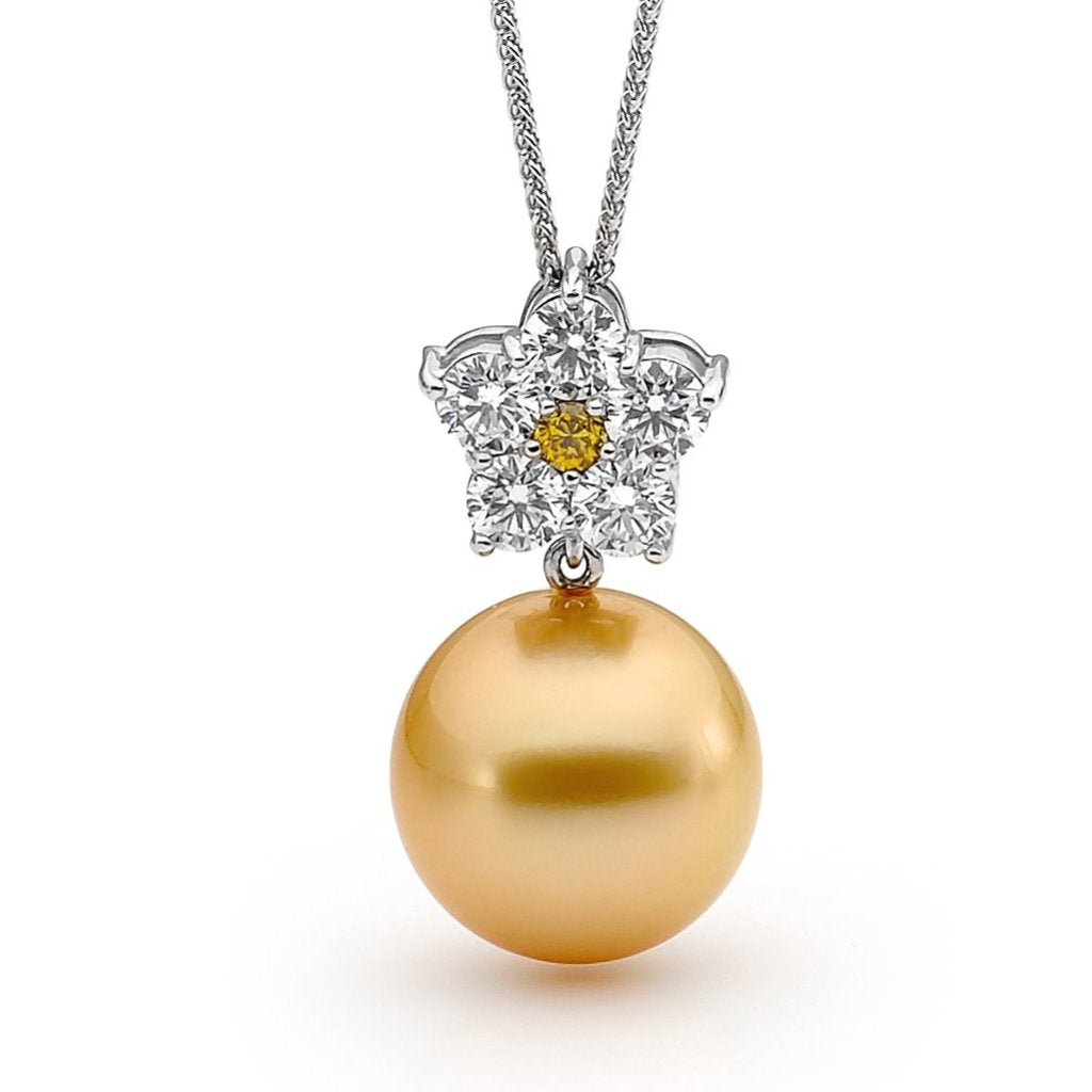 Yellow Diamond & Golden Pearl Pendant jewellery stores perth perth jewellery stores australian jewellery designers online jewellery shop perth jewellery shop jewellery shops perth perth jewellers jewellery perth jewellers in perth diamond jewellers perth bridal jewellery australia pearl jewellery australian pearls diamonds and pearls perth