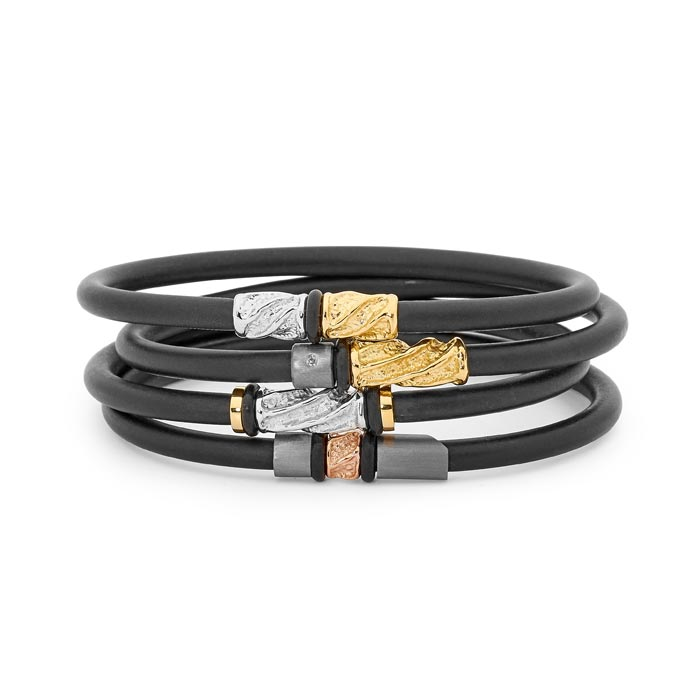 18ct two tone neoprene bangle