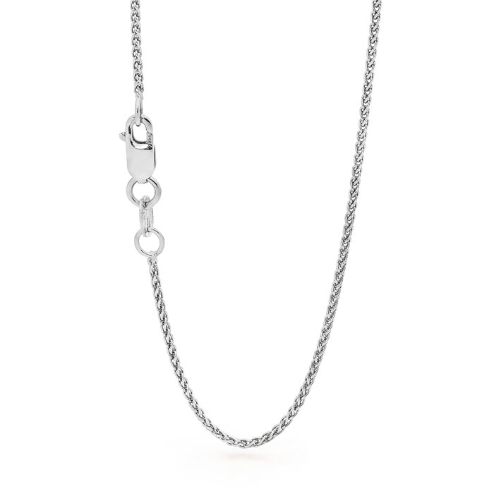 18ct White Gold Foxtail Chain Perth