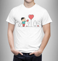 Love Is In The Air - Matching Set Couple T Shirts - Couple Gifts