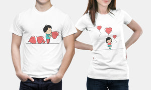 Ballooned With Love - Matching Couple Shirts Sets - Couple Gifts
