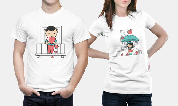 Showering With Love - Matching Set Couple Shirts - Couple Gifts - Couple Gifts