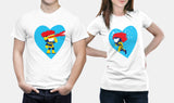 Marvel X-Men - Cyclops & Jean Grey - Matching Couple T Shirt Set - Couples Gifts