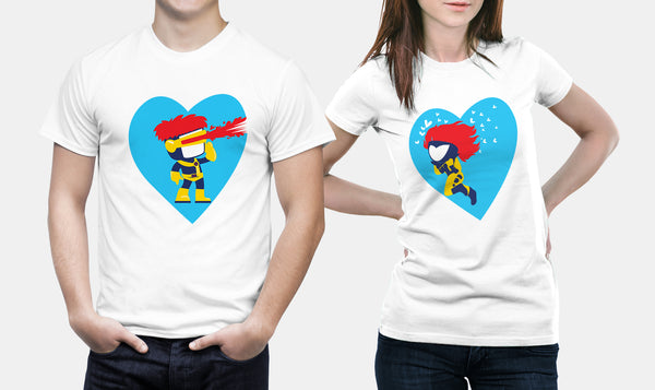 Cyclops & Jean | Marvel Couple T Shirts - Couple Gifts