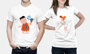 The Flintstones - Fred Flintstone - Matching Set Couple Shirts - Couple Gifts