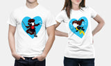 Marvel X-Men - Gambit & Rogue - Matching Couple T Shirt Set - Couples Gifts