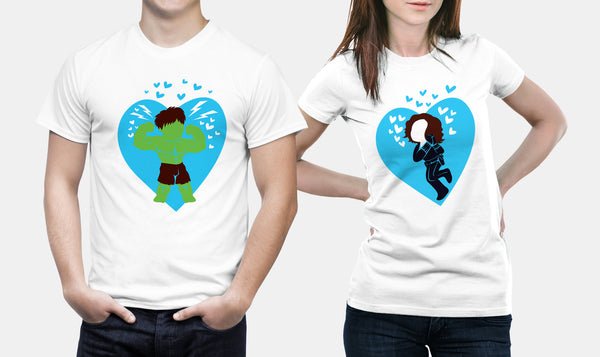 Hulk & Black Widow | Marvel Couple T Shirts - Couple Gifts
