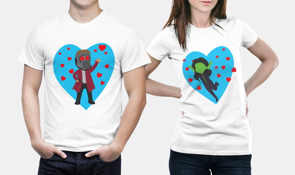 Star Lord & Gamora | Marvel Couple T Shirts - Couple Gifts
